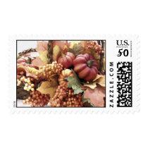 Fall Pumpkin Basket Postage Stamp
