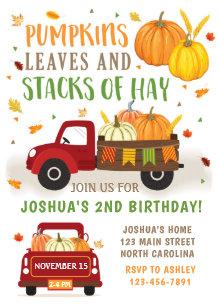 pumpkin birthday invitations zazzle
