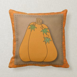 Fall Pumpkin Design Throw Pillow