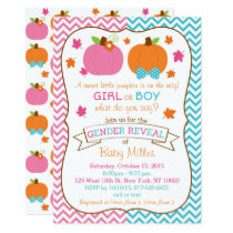 Fall Pumpkin Gender Reveal Card