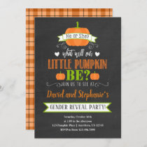 Fall Pumpkin Gender Reveal Party Invitation