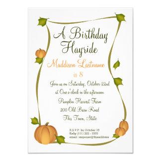 Fall Pumpkin Harvest Birthday Card