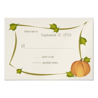 Fall Pumpkin Harvest Response Card