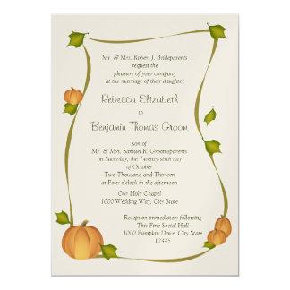 Fall Pumpkin Harvest Wedding Card
