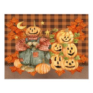 """fall pumpkin invitation 4.25"""" x 5.5"""" invitation card"""