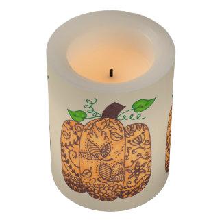 Fall Pumpkin LED Candle