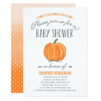 Fall Pumpkin Ombre   Baby Shower Invitation