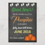 Fall Pumpkin Patch Baby Pregnancy Announcement