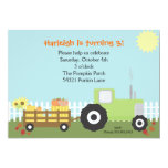 "Fall Pumpkin Patch Birthday Party Invitation 5"" X 7"" Invitation Card"