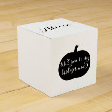 Fall Pumpkin Personalized Bridesmaid Proposal Favor Box