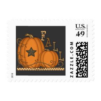 Fall Pumpkin postage stamp