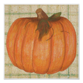 Fall Pumpkin Poster
