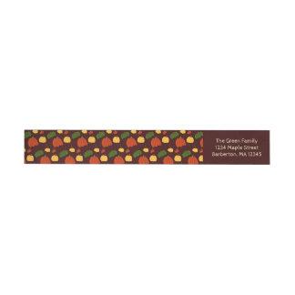 Fall Pumpkin:  Return Address Labels #3
