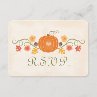 Fall Pumpkin RSVP Wedding Response Card