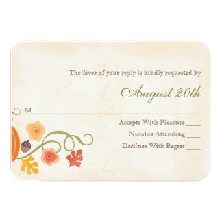 Fall Pumpkin RSVP Wedding Response Card