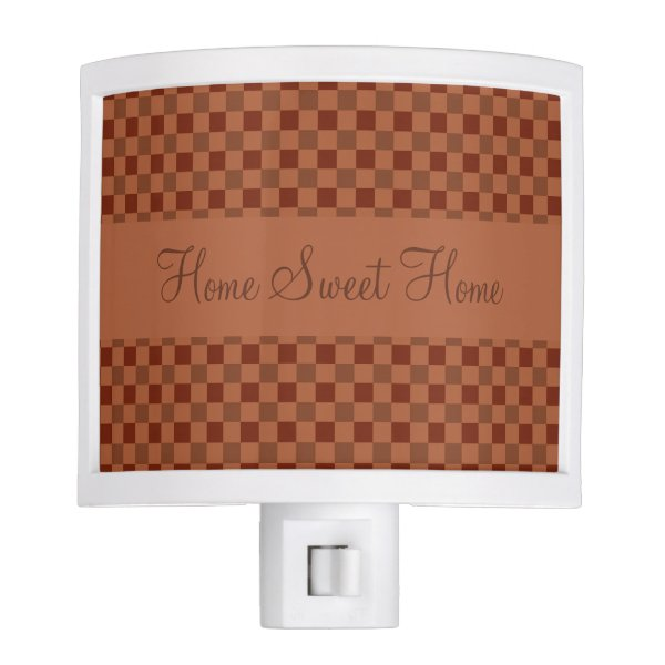 Fall Pumpkin Spice Squares Night Light