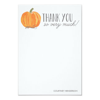 Fall Pumpkin   Thank You Note Card
