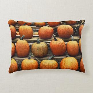 Fall pumpkins accent pillow