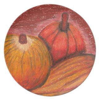 Fall Pumpkins dinner plate