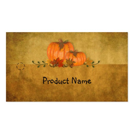 Fall Pumpkins Hang Tag Business Card Template