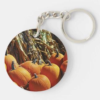 Fall Pumpkins Keychain