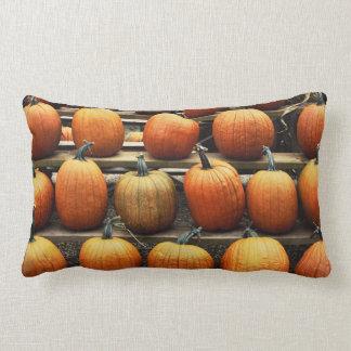 Fall pumpkins lumbar pillow