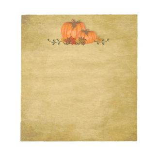 Fall Pumpkins Notepad