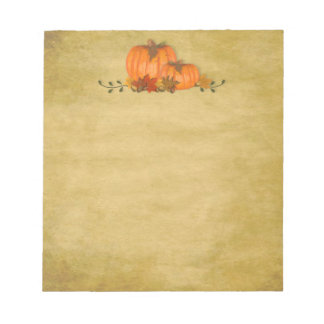 Fall Pumpkins Small Notepad