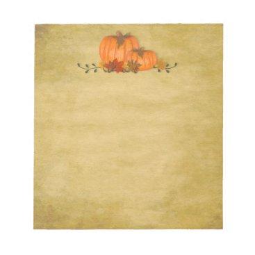 Professional Business Fall Pumpkins Small Notepad