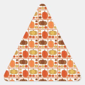 Fall Pumpkins Triangle Stickers