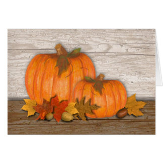 Fall Pumpkins Thanksgiving Card