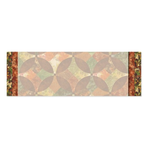 Fall Quilt Placecard Double-Sided Mini Business Cards (Pack Of 20)