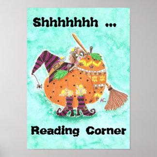 Fall reading corner poster
