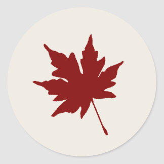 Fall Red Leaf Sticker