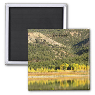 Fall Reflected 2 Inch Square Magnet