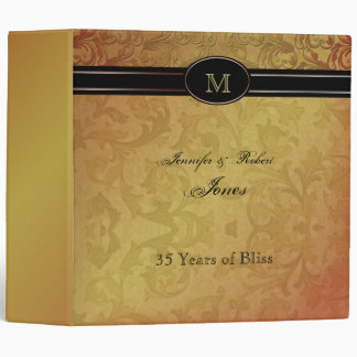 Fall Regency in Black and Gold Anniversary Binder