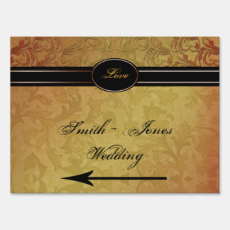Fall Regency Wedding Direction Sign