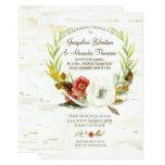 Fall Rehearsal Dinner Wreath Boho Feather Birch Card