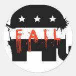 Fall republicano del fall pegatina redonda