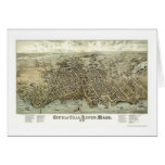 Fall River, mapa panorámico del mA - 1877 Tarjeta De Felicitación