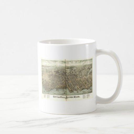 Fall River, Massachusetts in 1877 Coffee Mug