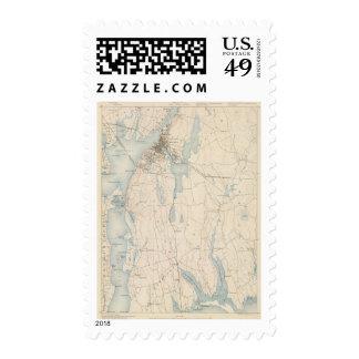 Fall River, Massachusetts Sello Postal