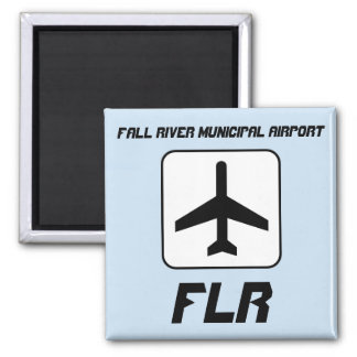Fall River Municipal Airport 2 Inch Square Magnet