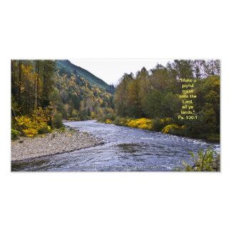 Fall River Print w/Scripture Verse