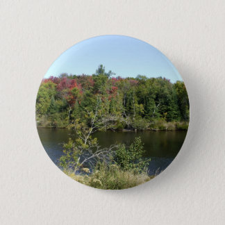 Fall River Scene Pinback Button