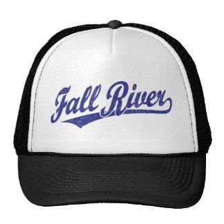 Fall River script logo in blue Trucker Hat