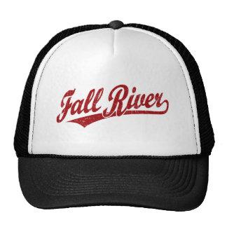 Fall River script logo in red Hats