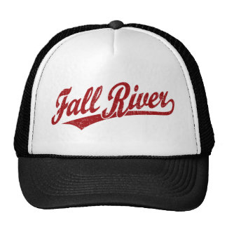 Fall River script logo in red Trucker Hats