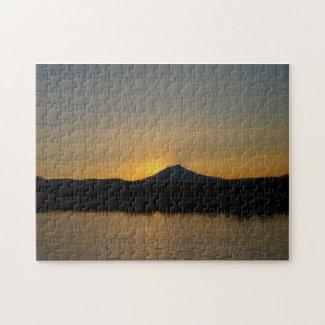 Fall River Sunset Jigsaw Puzzles