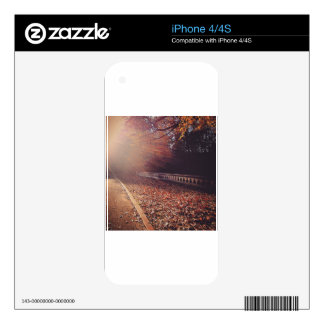 Fall Road Skin For iPhone 4S